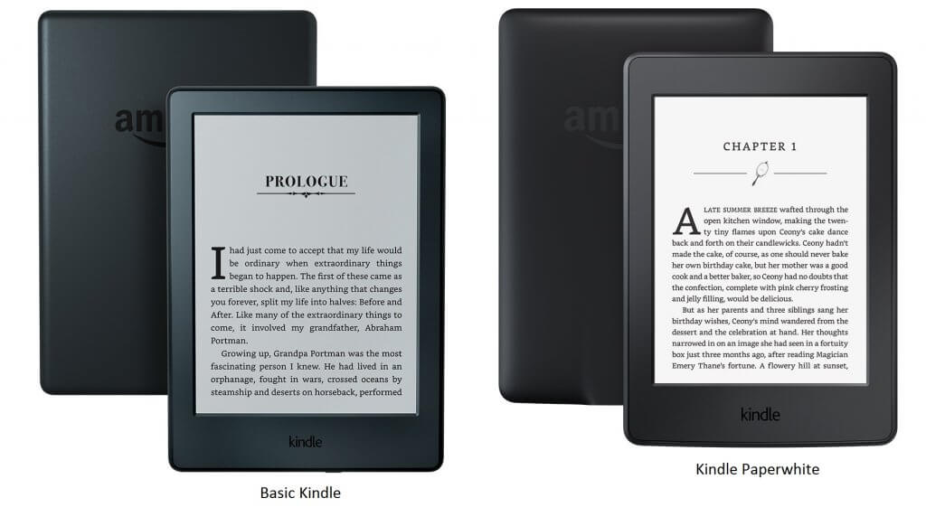 Kindle Vs Kindle Paperwhite – Compare to Pick The Right Kindle – 2017