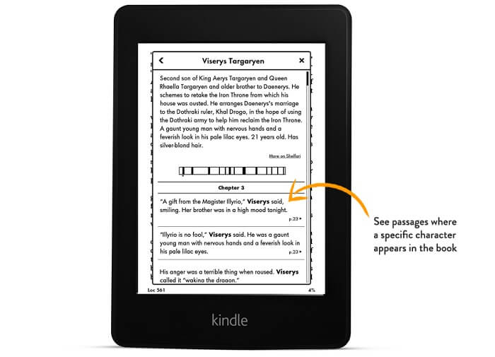 What is X-Ray on Kindle Paperwhite?