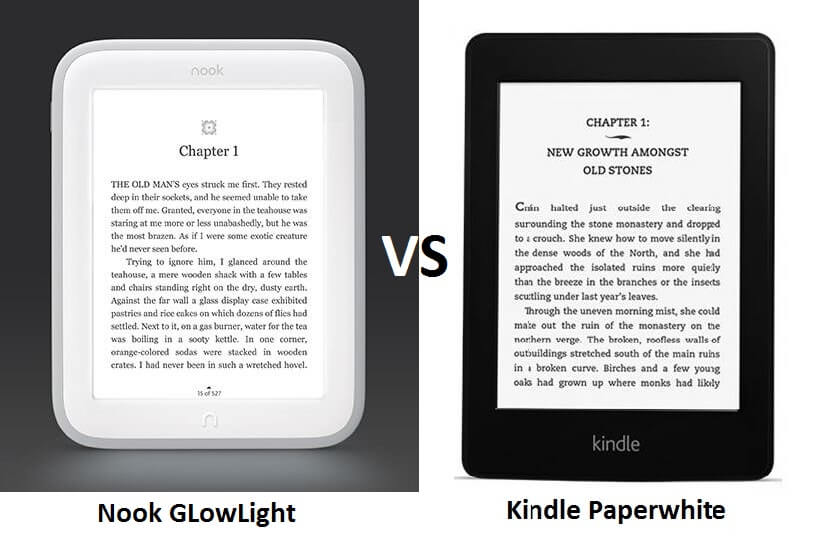 Kindle Paperwhite Vs Nook GlowLight: Everything You Need to Know & More